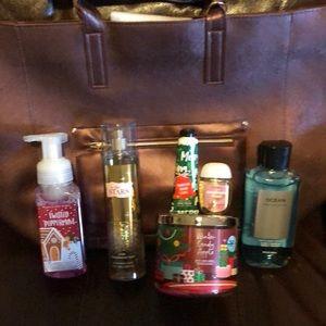 Bath and Body works Burgundy VIP gift bag